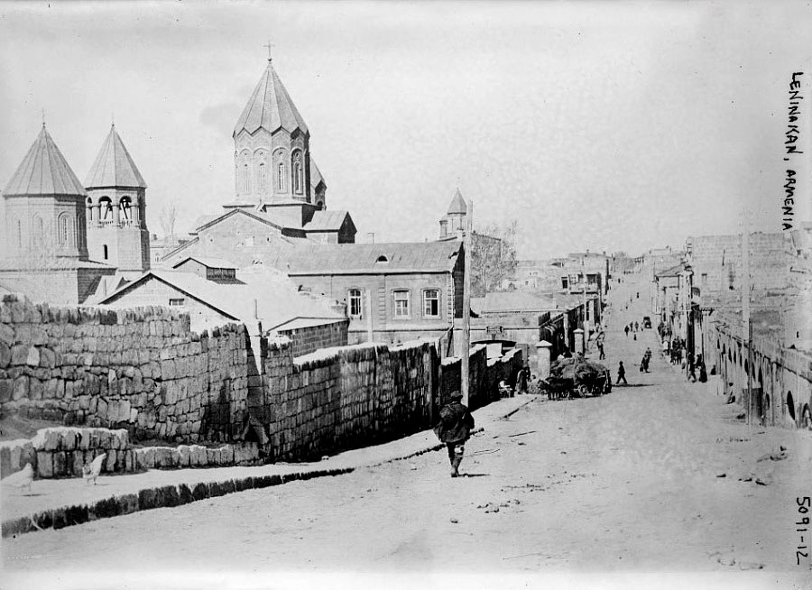 Gyumri. Panorama of city, 1920