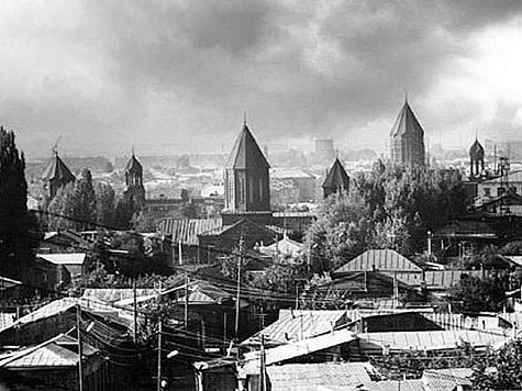 Gyumri. Panorama of city
