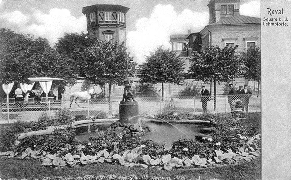 Tallinn. Fountain on the Viru Street